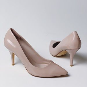 DUNE LONDON Patent Nude Pointy Pumps